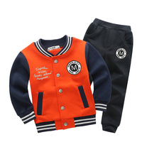Boys Girls Clothing Sets 2018 Autumn Children Coat Letter Pattern Student Baseball Wea Kid S Jacket