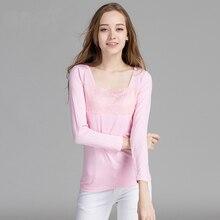Spring Autumn Modal Sleepwear Women Sleepshirt Long Sleeve Nightshirt  Nightwear Lace Trim Night Shirt Sexy Lingerie 11de0c417