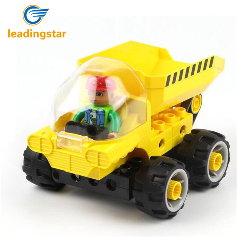 LeadingStar Children Educational Tech Machines Cement Mixer Large Building Block Construction Toys Set zk35 hot sale 1000g dynamic amazing diy educational toys no mess indoor magic play sand children toys mars space sand
