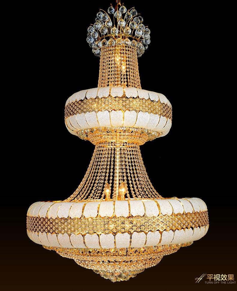 LED Avizeler Işıklar Fikstürü Altın Kristal Avize Altın Ev - İç Mekan Aydınlatma - Fotoğraf 6