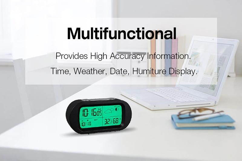 Hot Sale Led Digital Alarm Clock Backlight Snooze Mute Calendar Desktop Electronic Bcaklight Table Clocks Desktop Clock Clear-Cut Texture Alarm Clocks