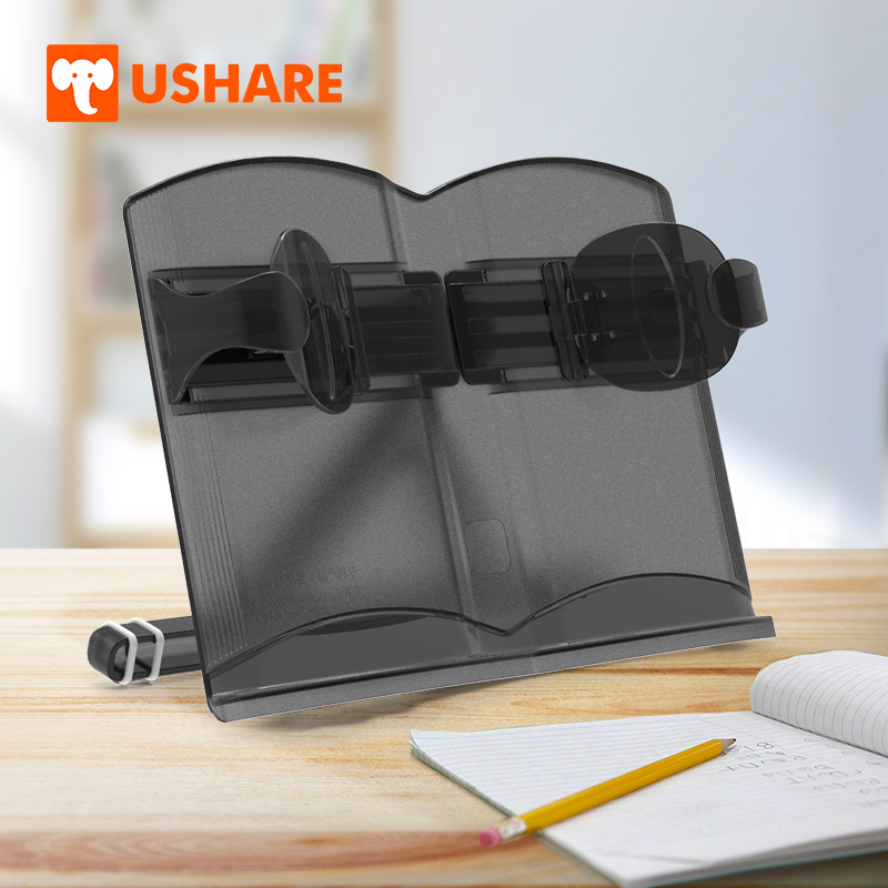 USHARE Book Holder Adjustable Portable Reading Book Stand Book Holder Stand Document Holder Music Document Stand Cookbook Stand