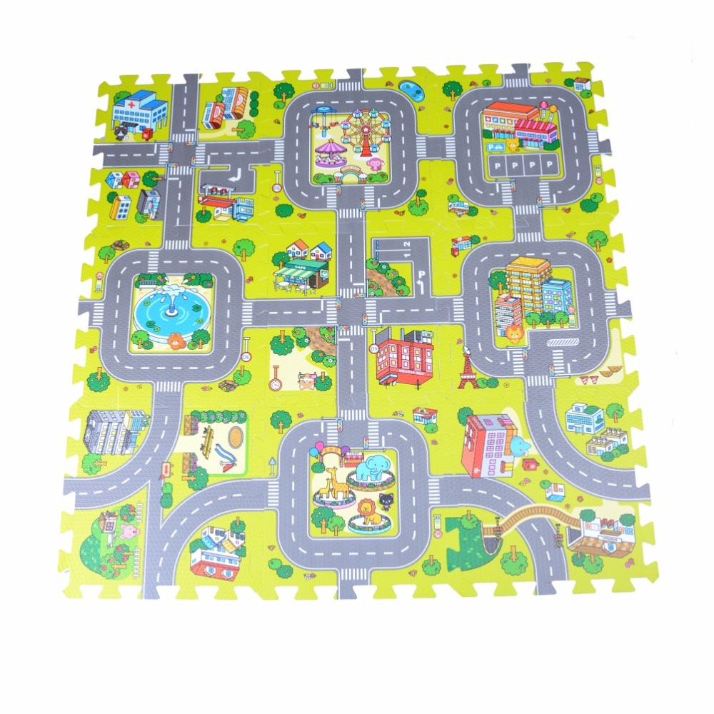 Rubber floor mats baby - Hot Sale Baby Crawling Mat Traffic Route Pattern Baby Play Mat Baby Carpet Soft Floor Kids Baby Playmat Outdoor Carpet Child Toy