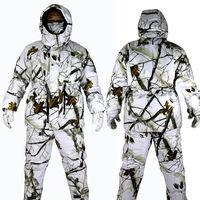 Новинка 2017 года Зима Водонепроницаемый зимние дышащие камуфляж Охота Костюмы лыжный костюм теплая Bionic Камуфляж Костюмы