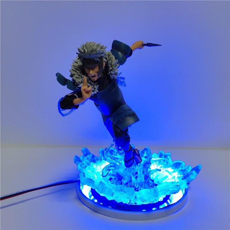 Figurine Naruto effet Led 3D veilleuse Anime Naruto Senju Tobirama Collection lampe de Table Lampara