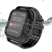 for Apple Watch Series 3 42MM Case IP68 Waterproof 360 Full Protection Bumper Cover For iWatch with Strap Band