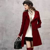 CLEARANCE Artka 2018 Winter Women Solid Stand Collar Woolen Coat Slim 45% Wool Warm Windproof Coat WA10651Q