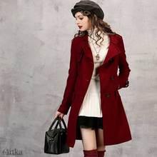 CLEARANCE Artka 2018 Winter Women Solid Stand Collar Woolen Coat Slim 45% Wool Warm Windproof Coat WA10651Q