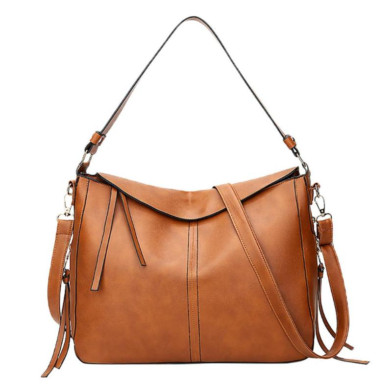 Hobo Sling Shoulder Bag Soft PU Leather Women Top Handle Crossbody Handbag Luxury Brand Totes