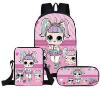 Children LOL Dolls Baby School Backpack Lovely Pink School Bags for Girls Orthopedic Backpack Kid Student Schoolbag