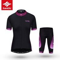 Santic Vélo Ensemble Femmes D'été Cyclisme Sur Route, Vêtements À Séchage Rapide Équitation Vélo Vélo Jersey Vêtements Costume Ropa Mallot Ciclismo