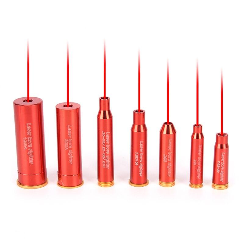 Red Hunting Red Laser Boresighter CAL.308 .223 30-06 CAL7.62x39 7.62X54 12GA 20GA Cartridge Tactical Bore Sighter