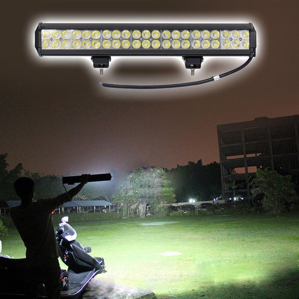 Tout Neuf et de Bonne Qualité 12 v double rangées led conduite lumière IP67 étanche lumière de travail 126 w 20 pouce offroad car led light bar J20
