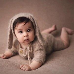 Image 2 - Neugeborenen fotografie requisiten, Nerz garn body für baby fotografie requisiten