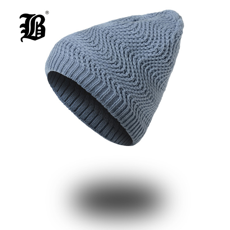[FLB] Winter Hats for Women Autumn Warm   Skullies     Beanies   Knitted Hat Fashion Girls Baggy Slouchy Bonnet Casual Ladies Cap FK7715