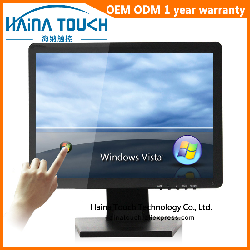 4:3 19 inch Flat Screen Touch Screen Monitor, VGA/HDMI Output Touchscreen Computer LCD Monitor, Monitor touch panel