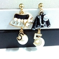 famous brand design golden   pearl cc earring for women number 5 cap trendy jewelry