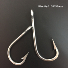 CN03 8/0 20pcs Mustad Fishing Hook Stainless Steel Fishing Hook Barbed Fishing Hook Big Hook For Fishing