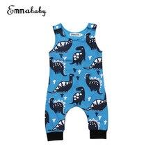 Emmababy Cartoon Dinosaur Baby Rompers 0-18M Newborn