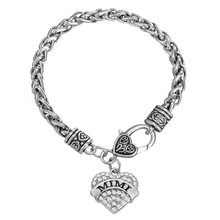 Teamer – Bracelet Mimi orné de cristal, en forme de cœur, cadeau pour femme et fille, marque Aliexpress