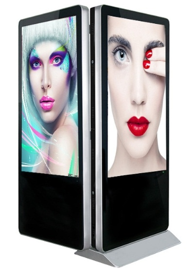 42 43 47 49 50 55 65 Inch Dual LCD TFT Full HD 1080p Display Both Sided Touch Screen Panel Windows Android OS Digital Signage