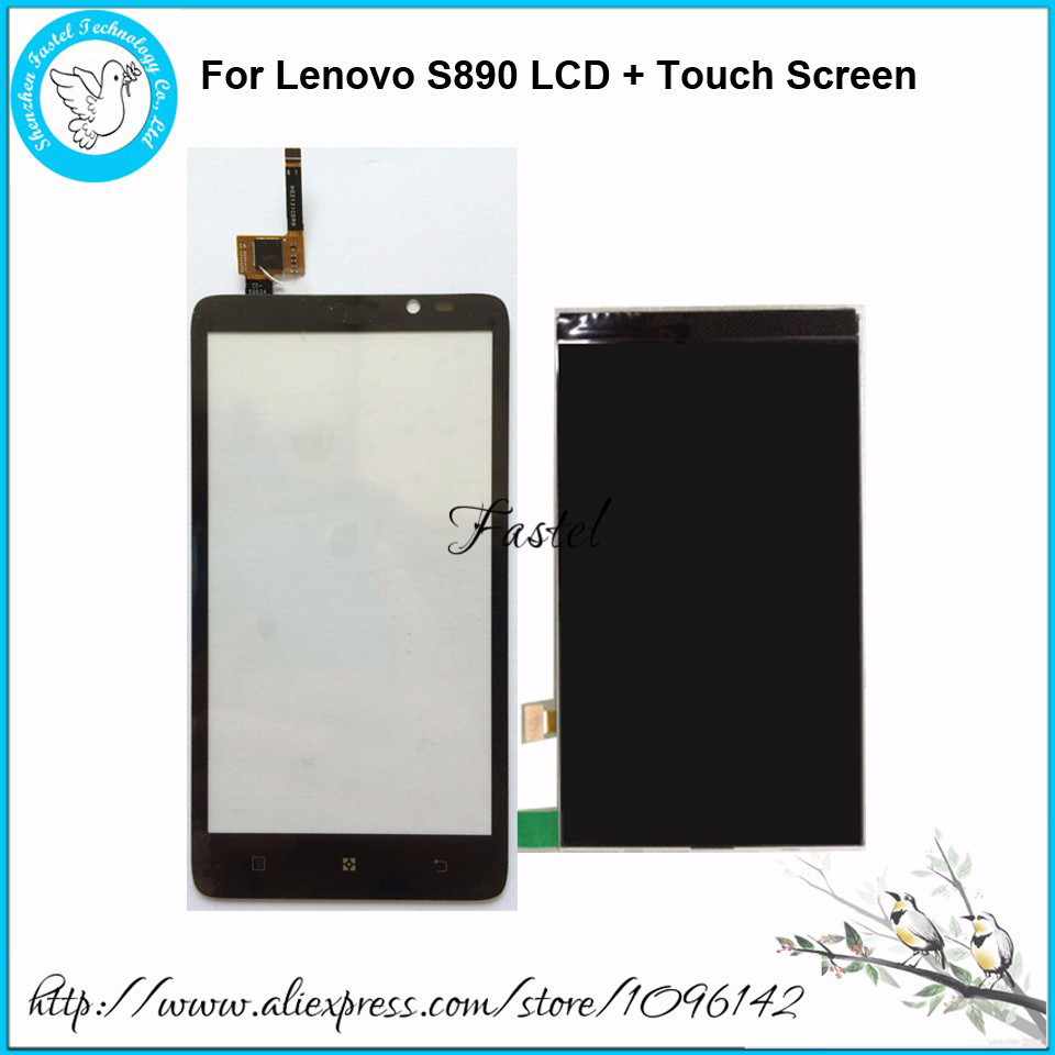 100% New Original replacement touch panel LCD display + Touch screen For Lenovo S890 lcd digitizer tools,free shipping original top cover shell with flash board top lcd fpc unit for nikon d7200 camera repair replacement part