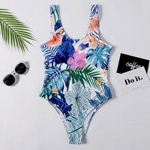 Женский купальный костюм с принтом монокини бандажный бразильский