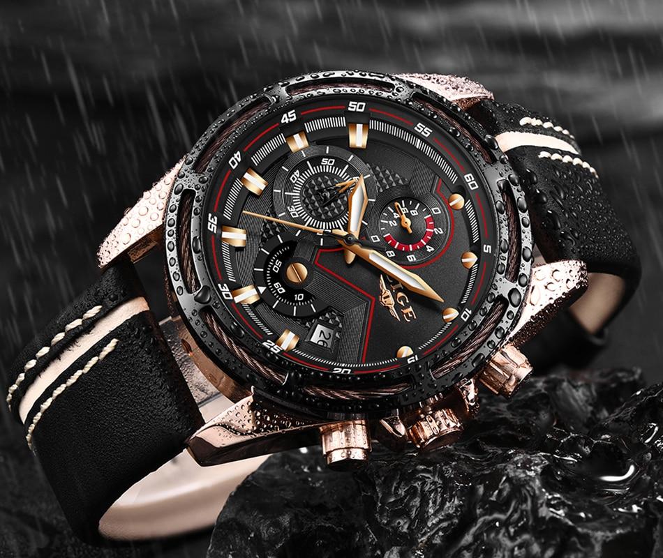 HTB1lmkJa2WG3KVjSZPcq6zkbXXaL LIGE Watch Men Fashion Sport Quartz Clock Leather Mens Watches Top Brand Luxury Blue Waterproof Business Watch Relogio Masculino