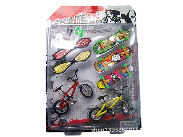 Nueva Llegada Bicicleta De Plástico Patín Del Dedo Juguetes para Niños Juegos, Divertido Mini Diapasones de Juguetes para Niños de Regalo