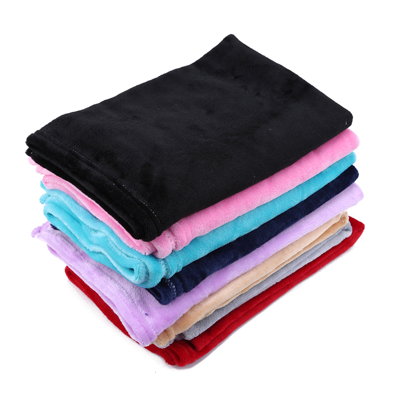 Baby Blankets New Soft Flannel Infant Blanket Summer Candy Color Casual Sleeping Bed Supplies Wrap