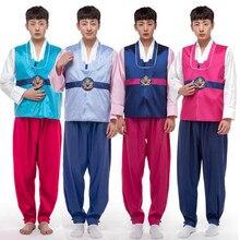 35e3e0400 جديد وصول الرجال الهانبوك ذكر كوريا تقليد زي 3 قطع الملابس أداء مرحلة حزب  تأثيري زي