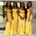 Африканские Золотые Невесты Платья Блесток Русалка Атласная С Плеча Формальное Лонг Партия Платье Молния Плюс Размер Vestidos де феста