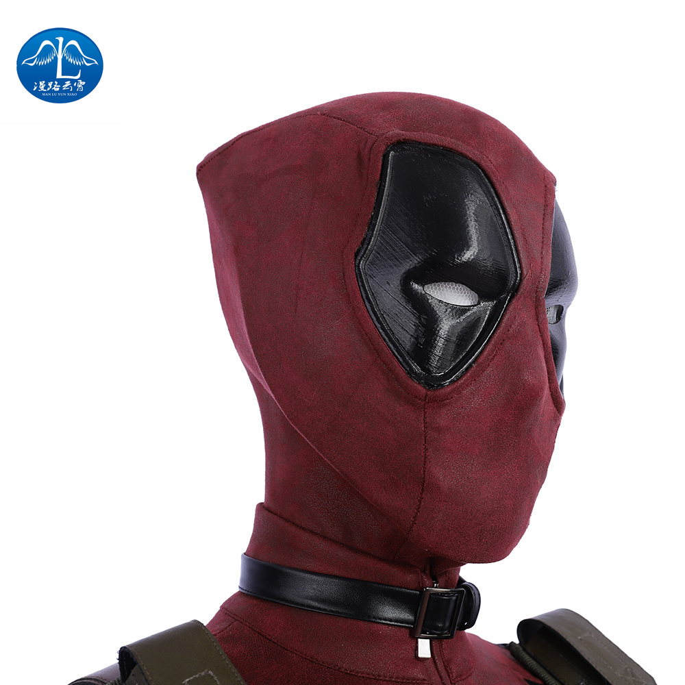 MANLUYUNXIAO Movie Deadpool Cosplay Mask Latex Full Head Helmet Deadpool Wade Winston Wilson Party Costume Masks Adult Funny in Movie TV costumes from Novelty Special Use