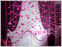 The flower petal crystal bead curtain off the living room window display wedding wedding bead curtain