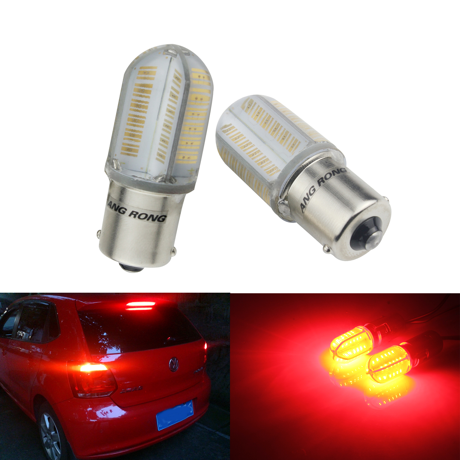 RED 1156 12V 21W BA15S Light Bulb Auto Car Brake Stop Signal Turn Tail Lamp !