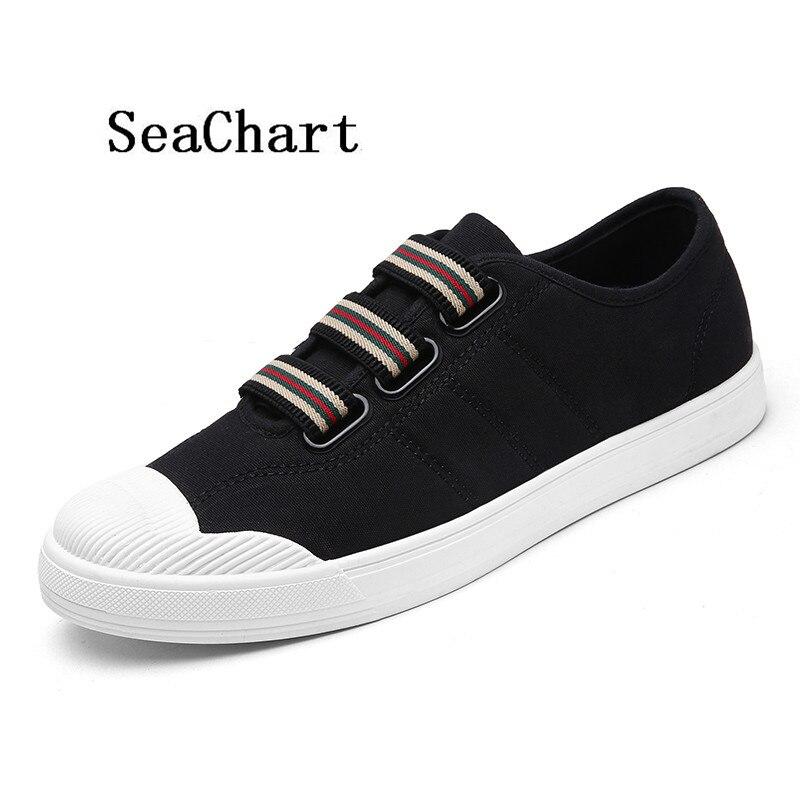 Prix pour Seachart Hommes de Couture Motif Sport Skateboarding Sneakers Hommes Low Cut PU En Cuir Sport En Plein Air Livraison Gratuite Hombres zapatos