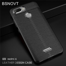 For Xiaomi Redmi 6 Case Soft TPU Silicone Leather Anti-knock Bumper Case For Xiaomi Redmi 6 Cover For Redmi 6 Case 5.45