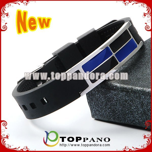 fashion health  4 in 1 energy  charming silicone bracelet. free shipping.