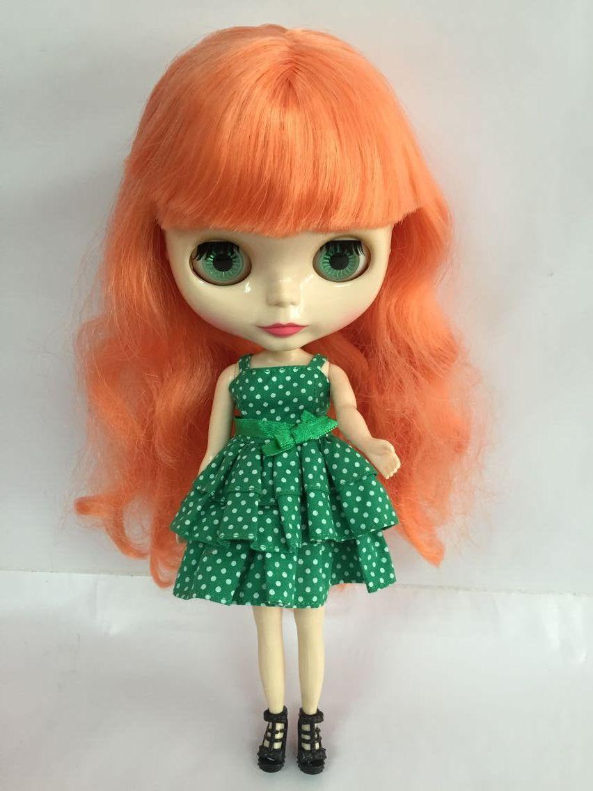 Nude blyth Doll blaond hair Factory doll Suitable For DIY