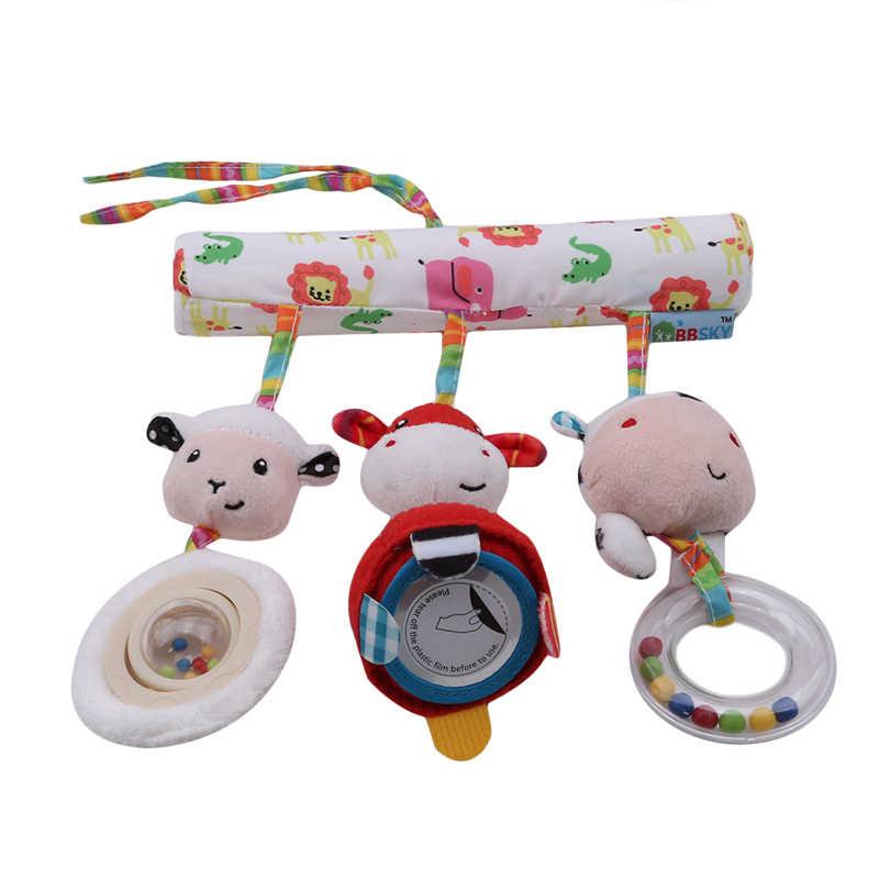 Горячая продажа Милая коляска токарный станок автомобильное сиденье Детская кроватка подвесные игрушки детские игрушки для путешествий Новорожденные детские игрушки для младенцев развивающие погремушки