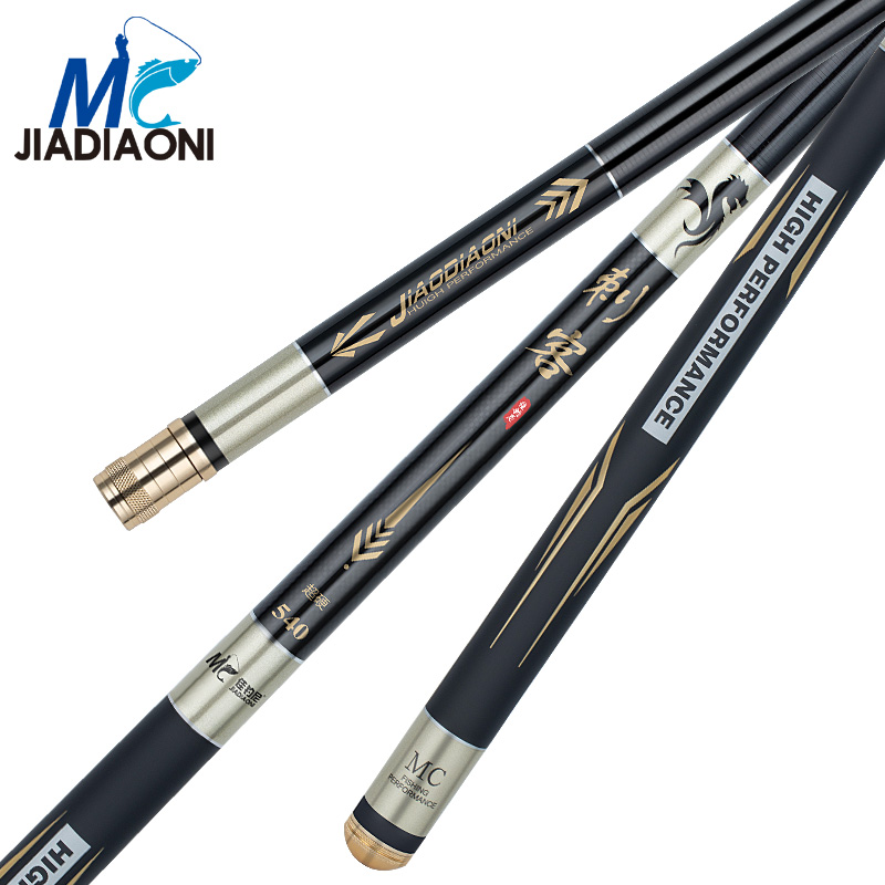 JIADIAONI 3.6m-7.2m 28 Tune Cike Carbom Long Taiwan Fishing Rod Telescopic Fly Carp Fishing Pole Fishing Tackle jiadiaoni carbon fiber 3 6m 4 5m 5 4m 6 3m long telescopic spinning carp fishing rod ice fly fishing fishing rod fishing tackle