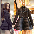 Ukraine Winter Jacket Women Plus Size 3XL Cotton Wadded Parka Skirt Style Black Winter Coat Women Fashion Female Outerwear C2450