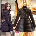 Ukraine Winter Jacket Women Plus Size 3XL Cotton Wadded Parka Skirt Style Black Winter Coat Women Fashion Female Outerwear C2450