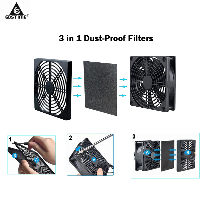 Купить с кэшбэком 2pcs/lot Gdstime Fan Dust Filter 40mm 50mm 60mm 80mm 90mm 120mm  Dustproof for PC Computer Case Cooling Fan 4cm 5cm 6cm 8cm 9cm