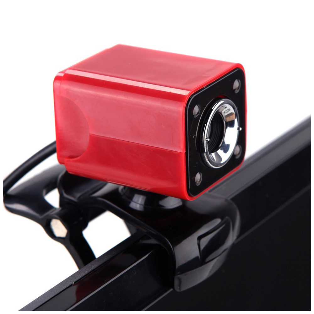 где купить USB 2.0 12 Megapixel HD Camera Web Cam with MIC Clip-on Night Vision 360 Degree for Desktop Skype Computer PC Laptop Red Shell по лучшей цене