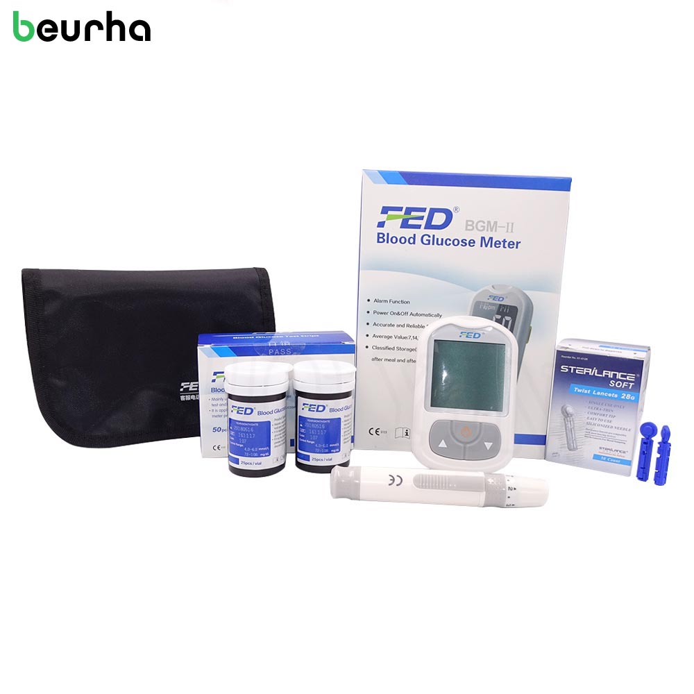 FED Blood Glucose 50 Pcs Blood Glucose Test Strips For Test Index Beurha Health Care Tools Glucometer Household Health Monitors glucose meter with high quality accessories urine disease glucose meter test article 50 pc free blood 50 pcs of health care