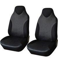 1 זוגות כיסוי מושב המכונית מושב מכונית אוניברסלי עור PU מכסה סטיילינג מכונית מכסה עבור אוטומטי מגן מושב קדמי פנים אביזרי