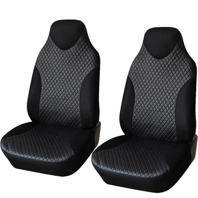 1 Pair Car Seat Cover PU Leather Universal Car-Covers Car Styling Covers For Auto Front Seats Protector Interior Accessories
