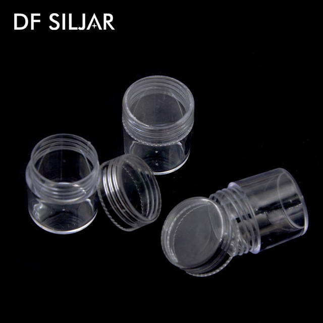 10pcspack 2528cm Small Round Box Plastic Clear DIY Jewelry