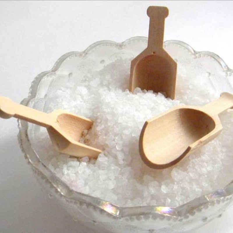 Wooden Scoops Salt Powder Spoon Bath Shower Tool Bath Salts Laundry Home COOL